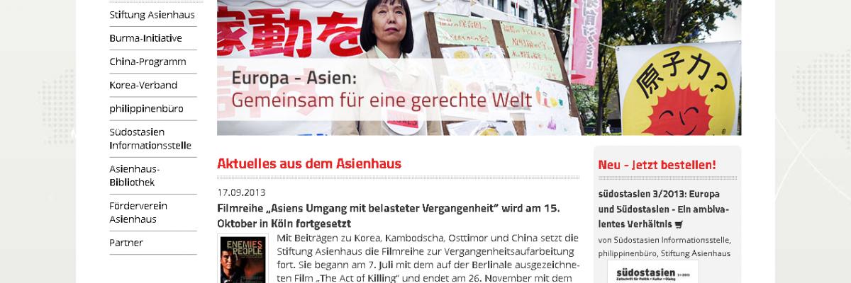 Relaunch asienhaus.de