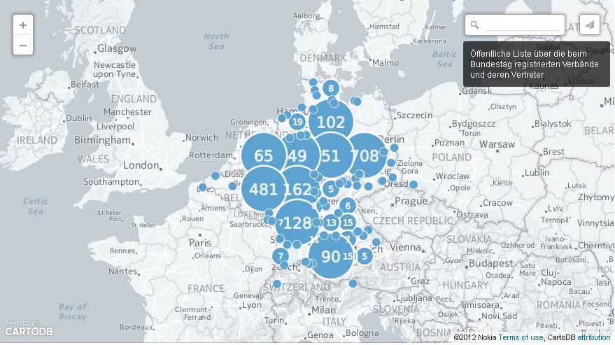 Öffentliche Liste über die beim Bundestag registrierten Verbände und deren Vertreter