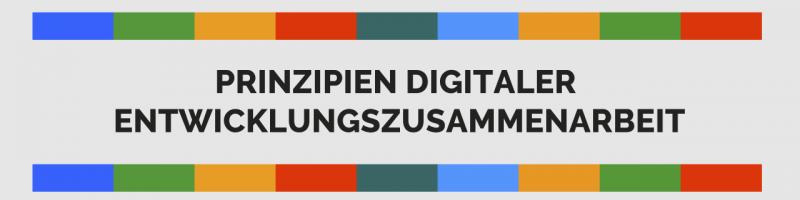 Prinzipien digitaler Entwicklungszusammenarbeit